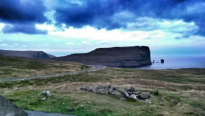 Risin og Kellingin just off the coast of Eysturoy.